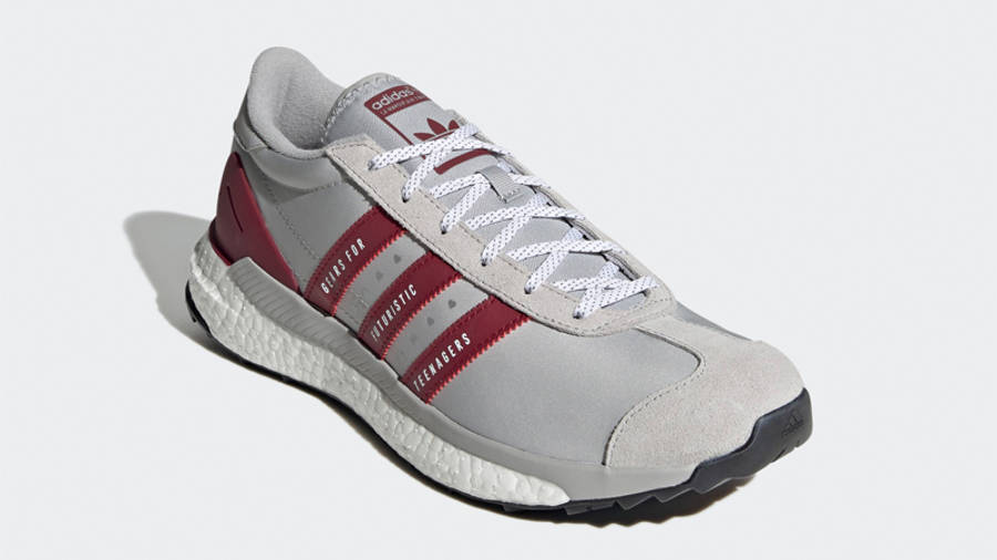 Human Made x adidas Country Grey Collegiate Burgundy Front