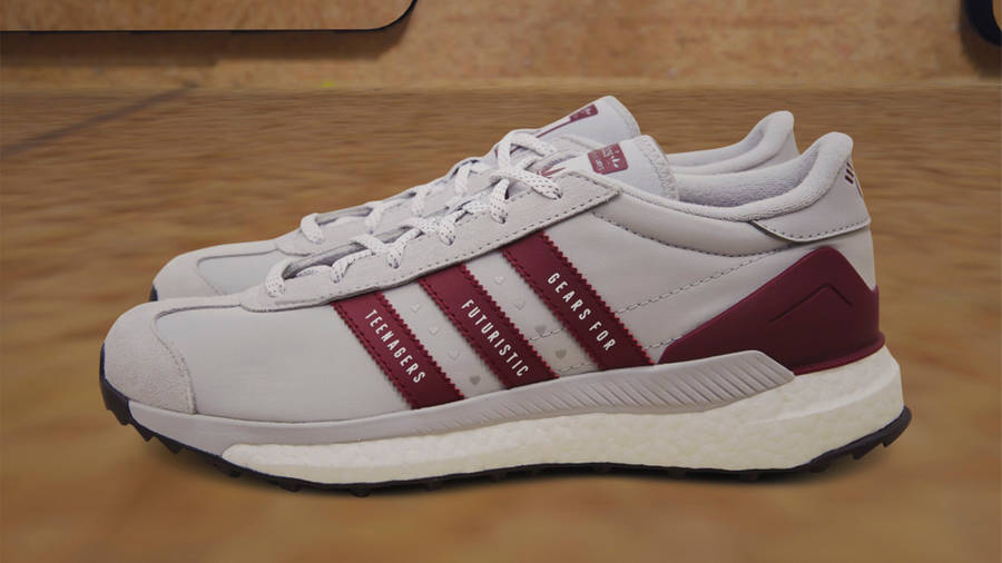 Human Made x adidas Country Grey Collegiate Burgundy Lifestyle