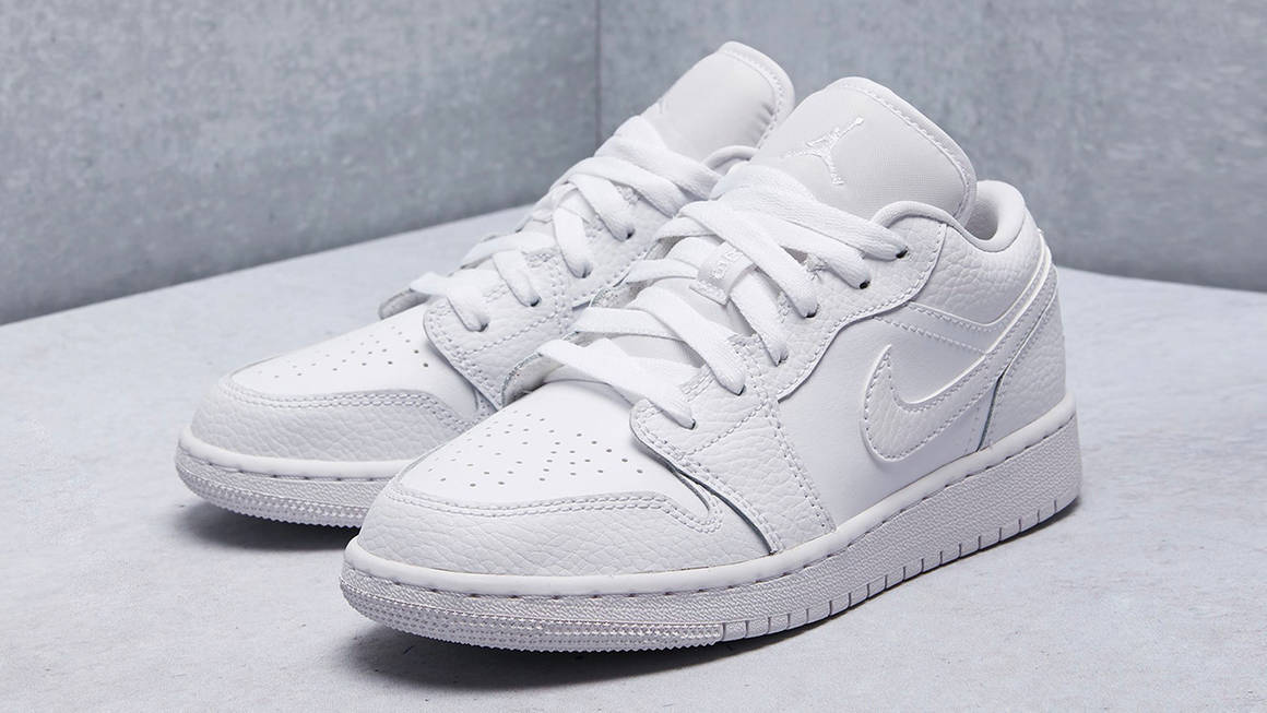 "Air Jordan 1 Low GS ""Triple White"""