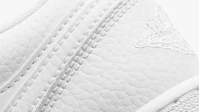 Jordan 1 Low GS Triple White Closeup