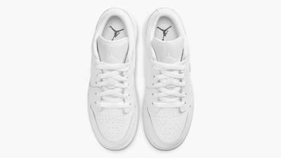 Jordan 1 Low GS Triple White Middle