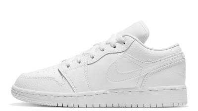 Jordan 1 Low GS Triple White