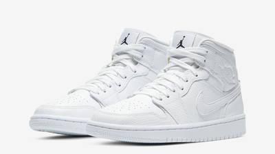 Jordan 1 Mid Snakeskin White Front