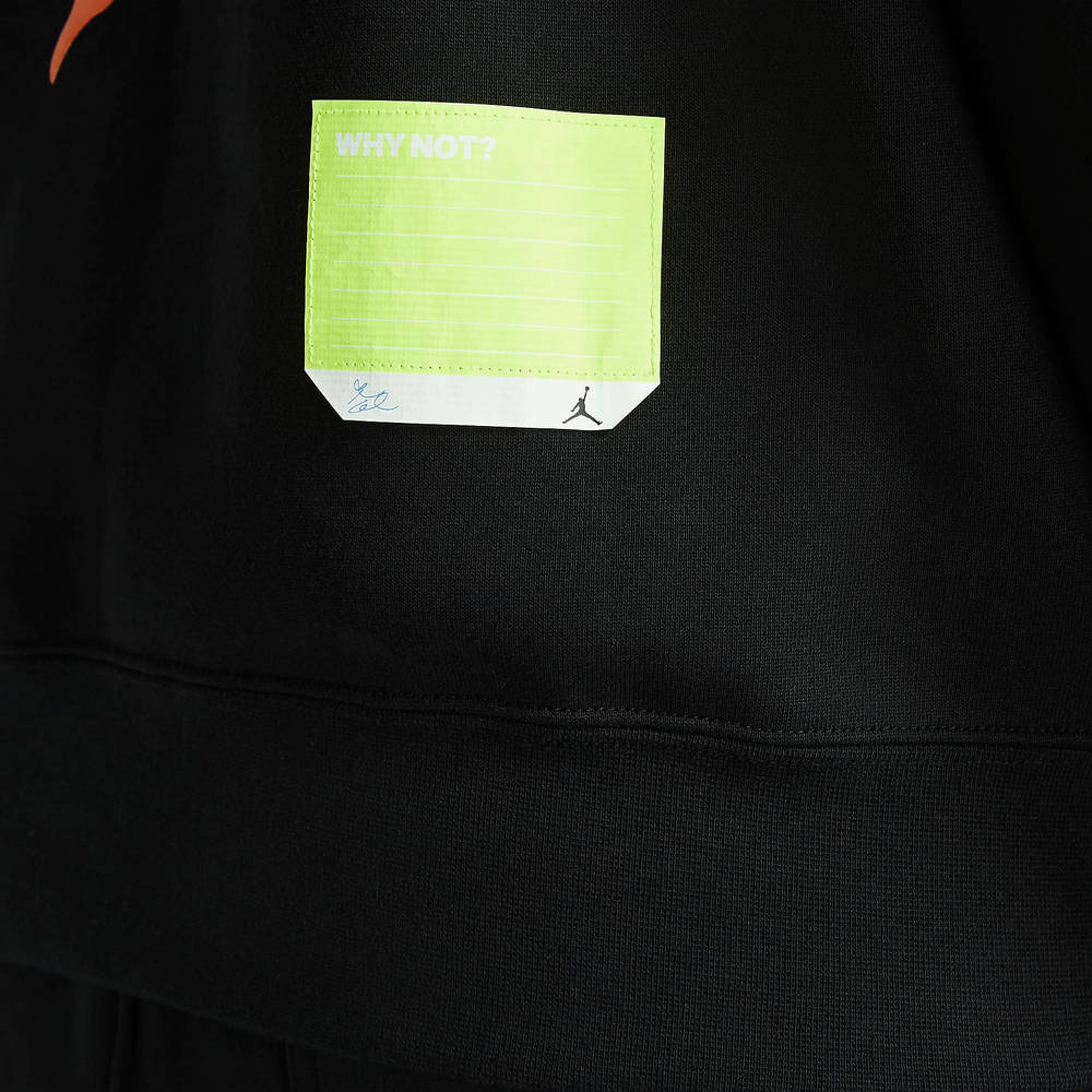 Jordan Why Not Fleece Hoodie DD3319-010 Detail 2