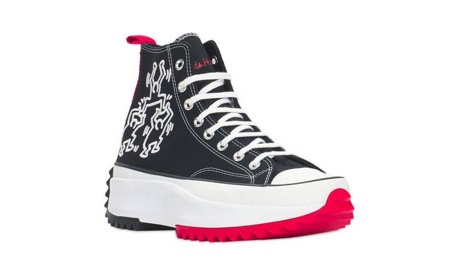 Keith Haring x Converse Run Star Hike Black Front