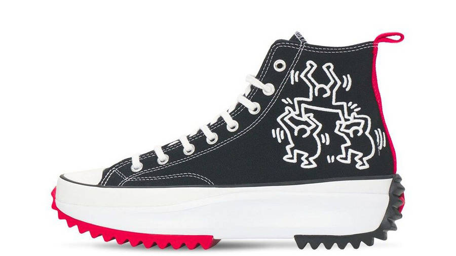 Keith Haring x Converse Run Star Hike Black