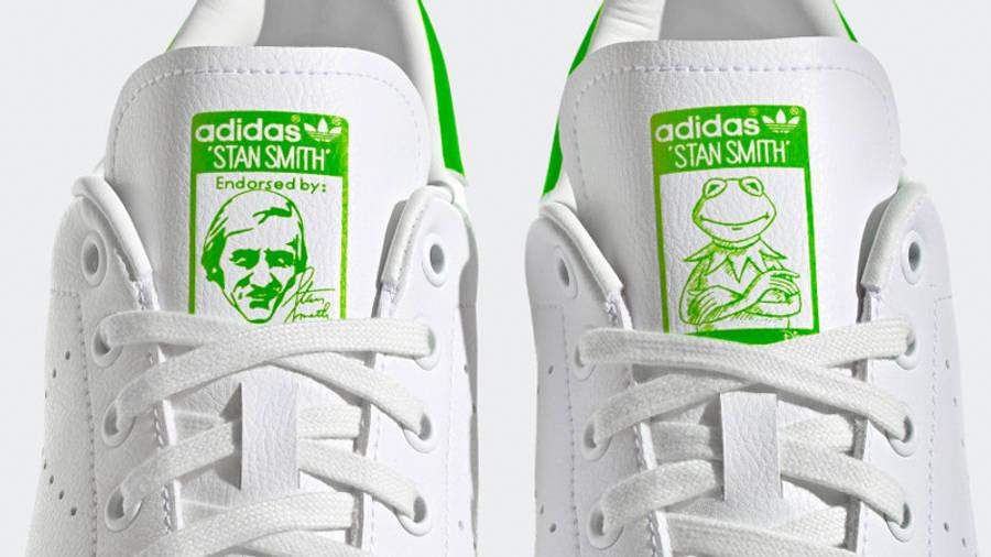 Kermit the Frog x adidas Stan Smith Cloud White Pantone Closeup