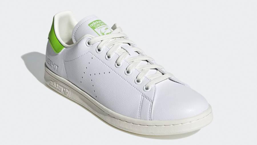 Kermit the Frog x adidas Stan Smith Cloud White Pantone Front