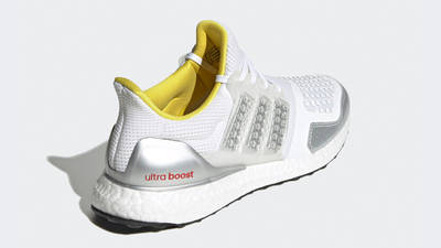 LEGO x adidas Ultra Boost DNA Cloud White Metallic Silver Back
