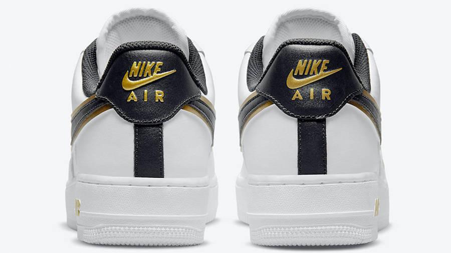 Nike Air Force 1 Gold White Double Swoosh DA8481-001 back