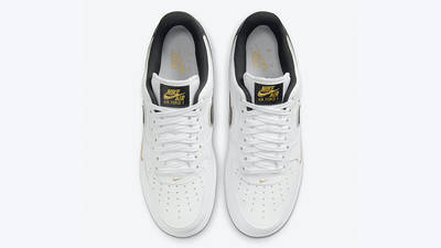 Nike Air Force 1 Gold White Double Swoosh DA8481-001 middle