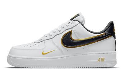Nike Air Force 1 Gold White Double Swoosh DA8481-001