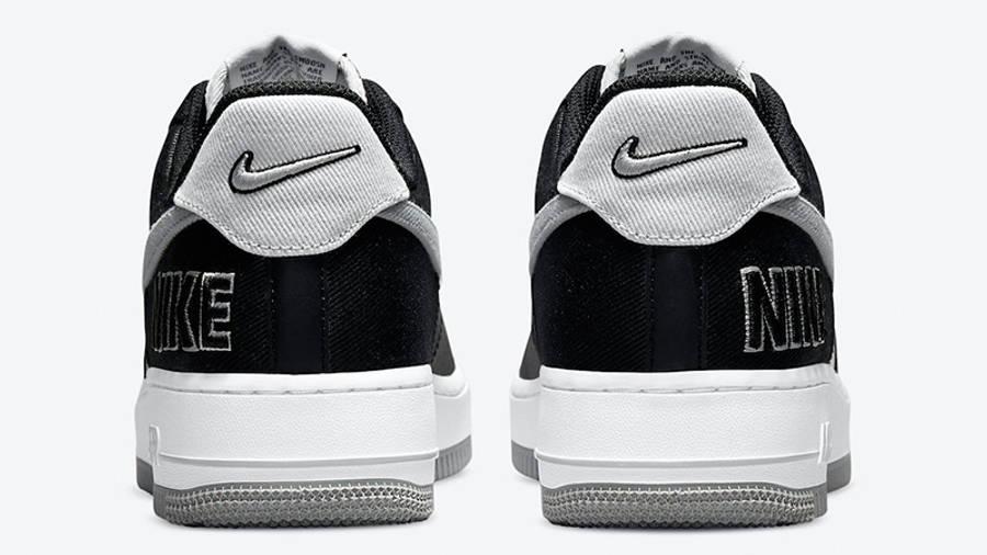 Nike Air Force 1 LV8 EMB Black Silver CT2301-001 back