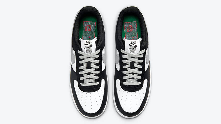 Nike Air Force 1 LV8 EMB Black Silver CT2301-001 middle