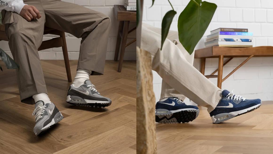 Nike Air Max 90 Grey and Obsidian