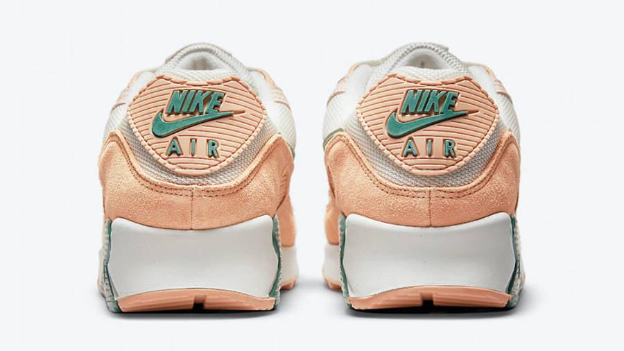 Nike Air Max 90 Light Bone Dutch Green Shimmer Back