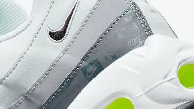 Nike Air Max 95 Grey Volt Logo Closeup