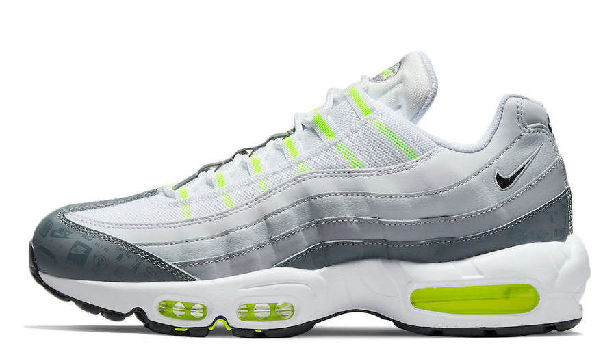 Nike Air Max 95 Grey Volt Logo