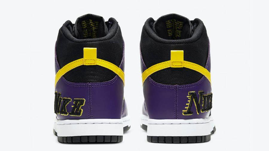 Nike Dunk High EMB Lakers Back