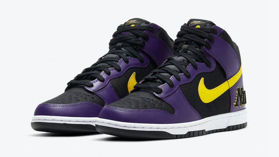 Nike Dunk High EMB Lakers Front