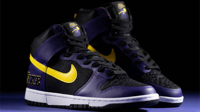 Nike Dunk High EMB Lakers Lifestyle Front