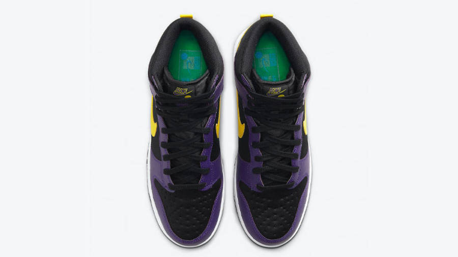 Nike Dunk High EMB Lakers Middle