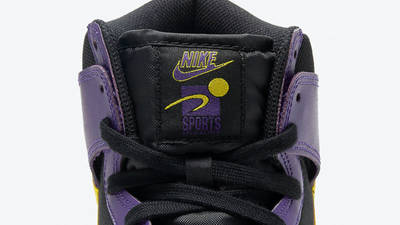 Nike Dunk High EMB Lakers Tongue