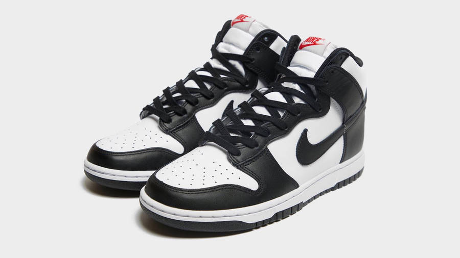 Nike Dunk High White Black First Look Front