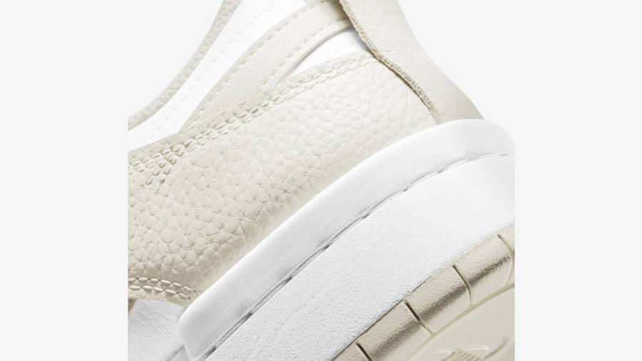 Nike Dunk Low Disrupt White Sea Glass Closeup