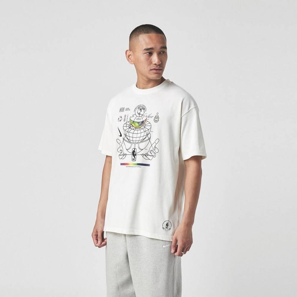 Nike NBA M2Z Globe T-Shirt White