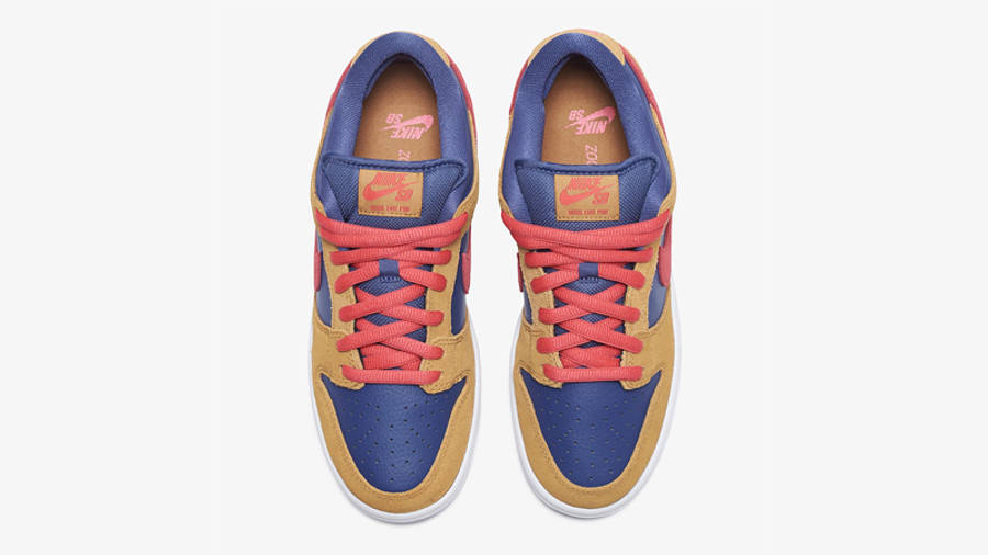 Nike SB Dunk Low Wheat Dark Purple Middle