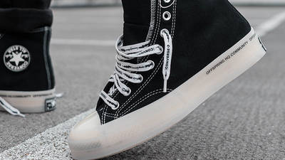 Offspring x Converse Chuck 70 Flip Black 04 on foot side