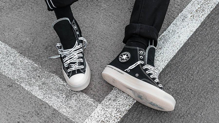 Offspring x Converse Chuck 70 Flip Black on foot
