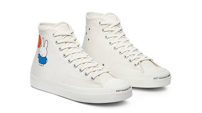 Pop Trading Company x Converse CONS Miffy JP Pro High Top Egret Front