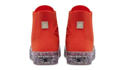 Renew Cotton x Converse Chuck 70 Knit High Bright Poppy Back