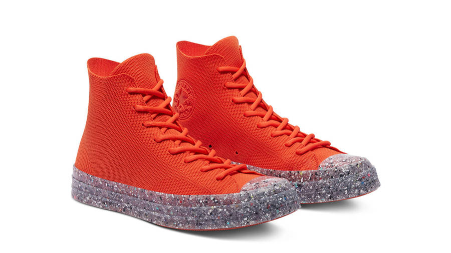 Renew Cotton x Converse Chuck 70 Knit High Bright Poppy Front