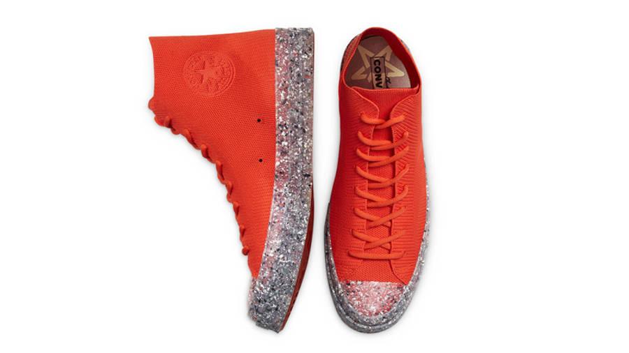 Renew Cotton x Converse Chuck 70 Knit High Bright Poppy Middle