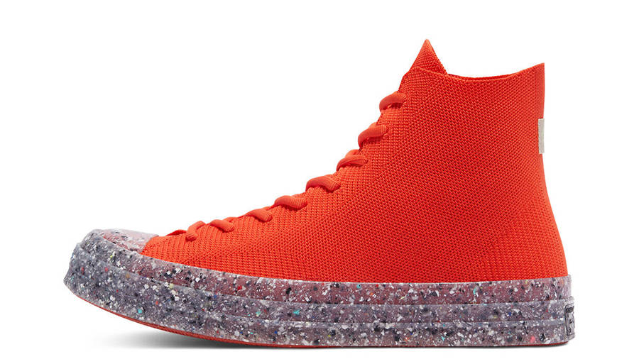 Renew Cotton x Converse Chuck 70 Knit High Bright Poppy