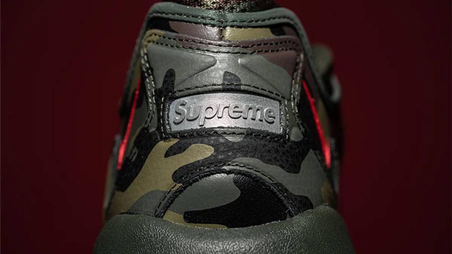 Supreme x Nike Air Max 96 Camo First Look Back Closeup