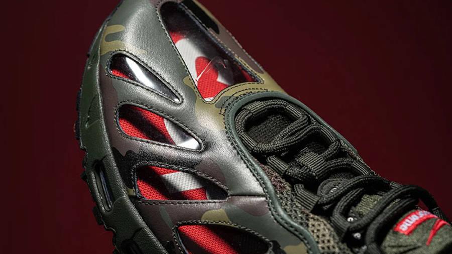 Supreme x Nike Air Max 96 Camo First Look Front Closeup
