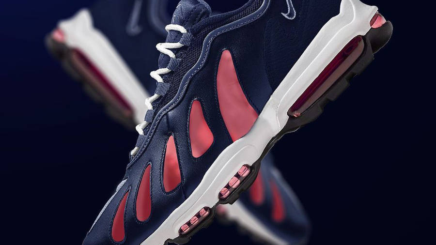 Supreme x Nike Air Max 96 Navy Pink First Look