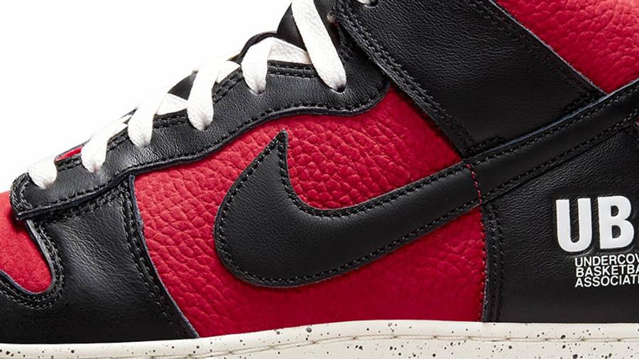 UNDERCOVER x Nike Dunk High UBA Detail