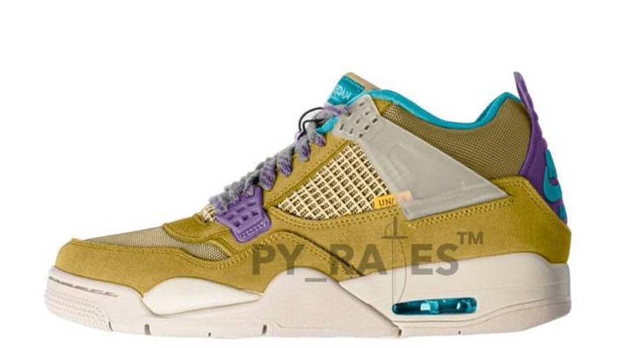 Union x Air Jordan 4 30th Anniversary Desert Moss Turquoise Blue