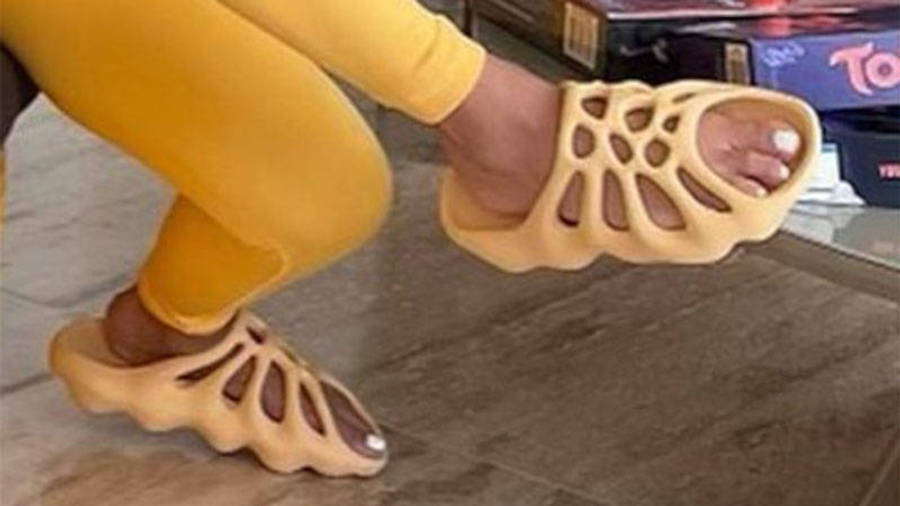 Yeezy 450 Slides Yellow First Look