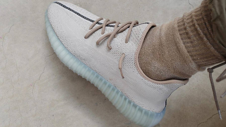 Yeezy Boost 350 V2 Leaf On Foot