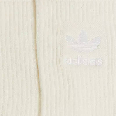 adidas Originals No Dye Ribbed Crew Socks Off White Detail 2