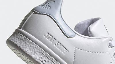 adidas Stan Smith White Halo Blue Closeup