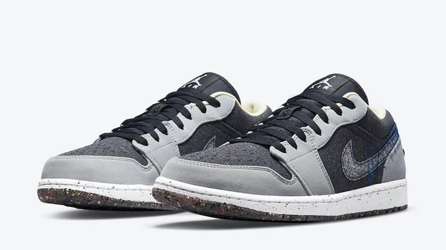 Air Jordan 1 Low Crater Grey Black DM4657-001 front