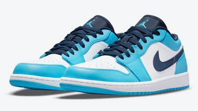 Air Jordan 1 Low UNC University Blue 553558-144 Side
