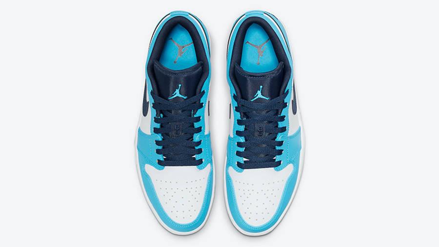 Air Jordan 1 Low UNC University Blue 553558-144 Top